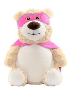 PERSONALISED PINK HERO BEAR