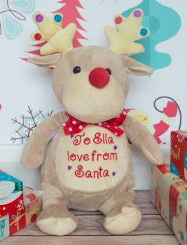 PERSONALISED TAUPE REINDEER (DISPATCHED IN DECEMBER) JUST ENTER DETAILS AND THREAD COLOUR IN NOTE SECTION AT CHECKOUT