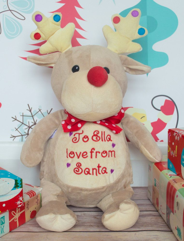 PERSONALISED TAUPE REINDEER (DISPATCHED IN DECEMBER)