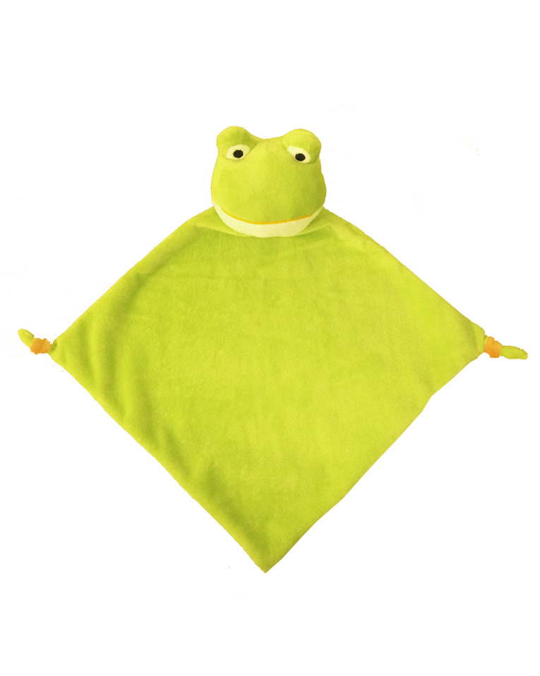 PERSONALISED FROG COMFORTER SOFT TOY