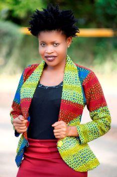 Odo African Print Blazer