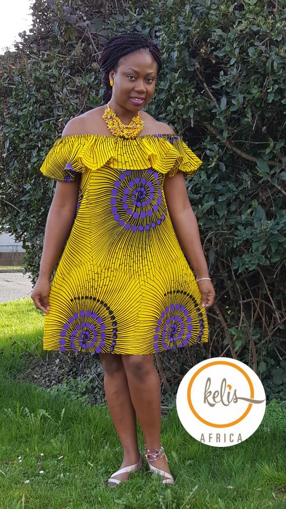 Yellow Off Shoulder Dress