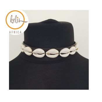 Cowrie Shell Choker/ Cowrie Shell Necklace