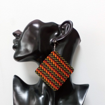 Large Square Earrings/ Ketepa