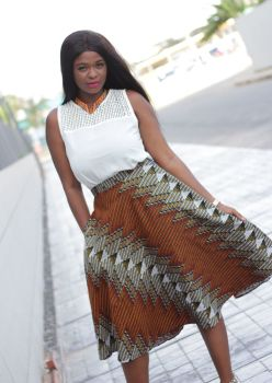 Flare Skirt /Midi Skirt/ Ketepa