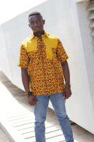 African Print Short Sleeve /Vito