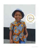 African Print Shirt/Orange