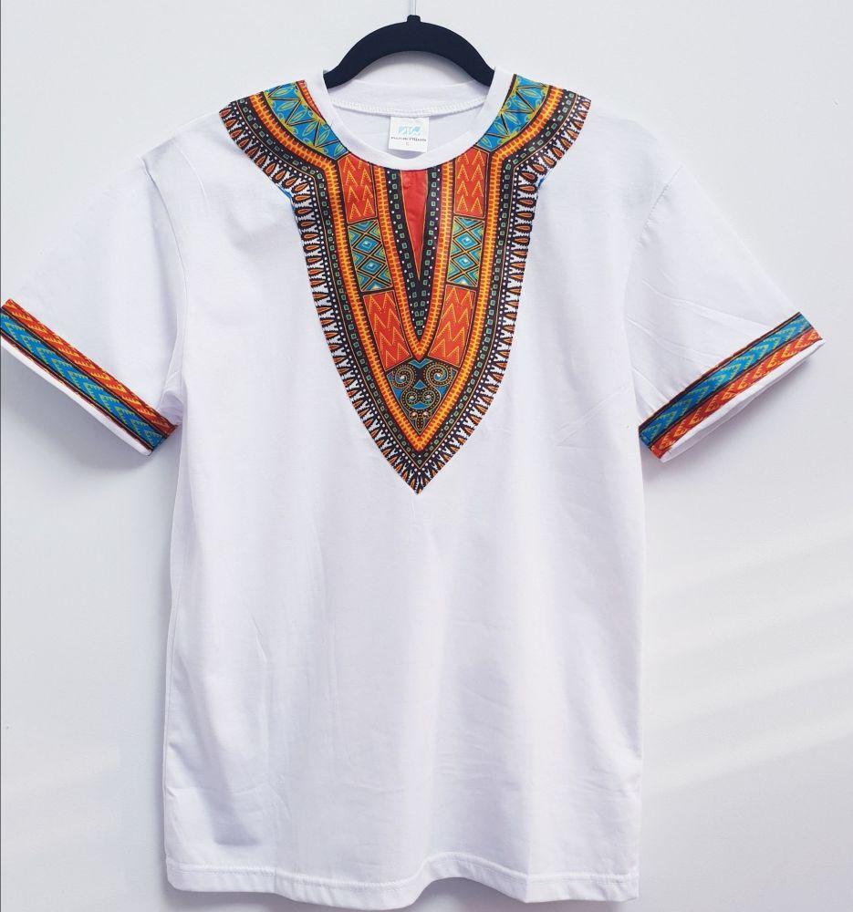 Whites T-shirt  Dashiki