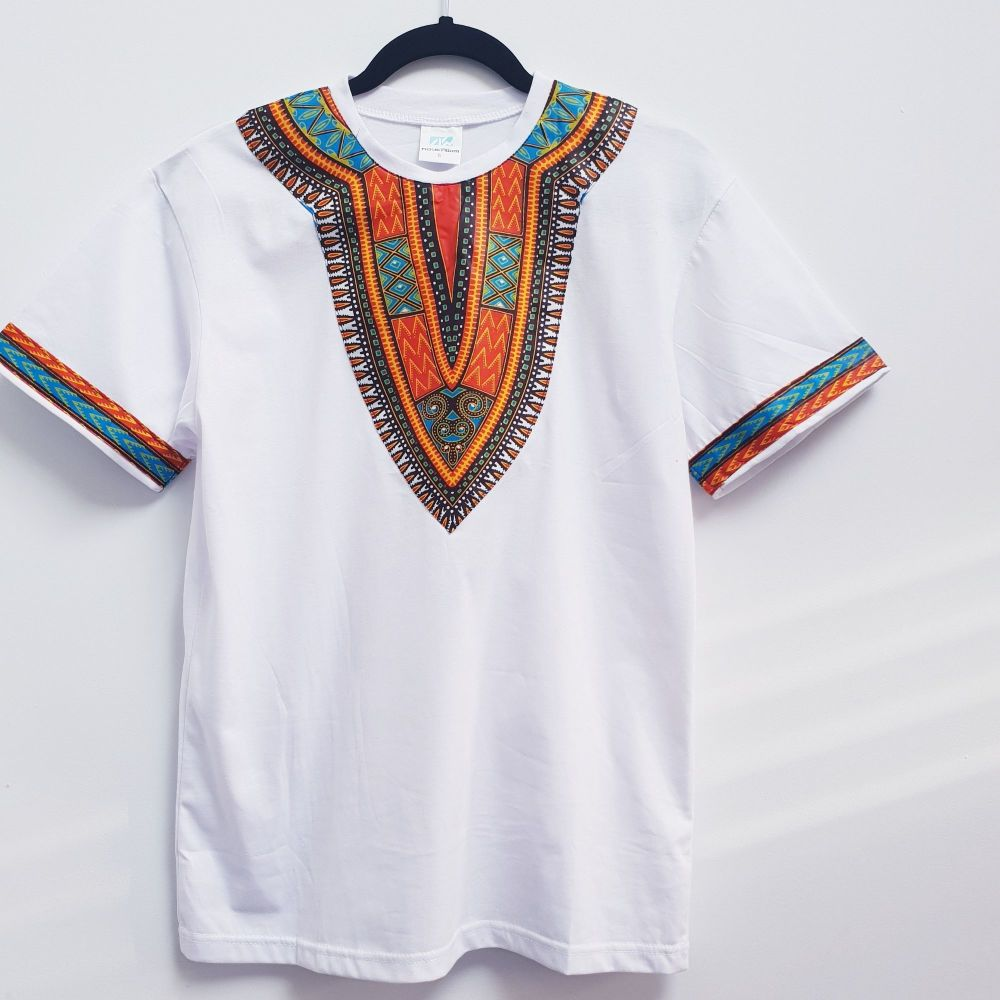 Whites T-shirt  Dashiki  Children