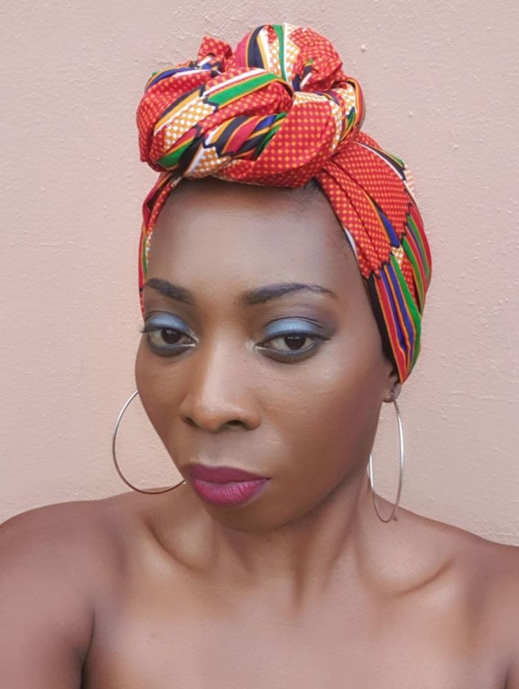 African Print Head Wrap/ Rainbow Kente