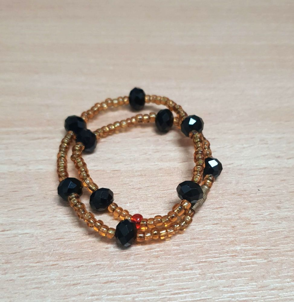 Chunky  Anklet /  Dark Berries