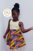 Girls African Print Skirt  / Candy