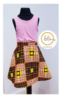 Girls African Print Skirt  / Square Hills
