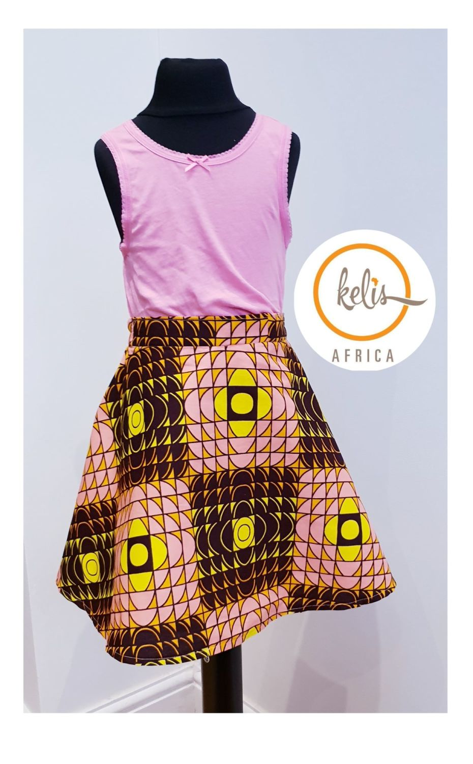 Girls African Print Skirt  / Hills