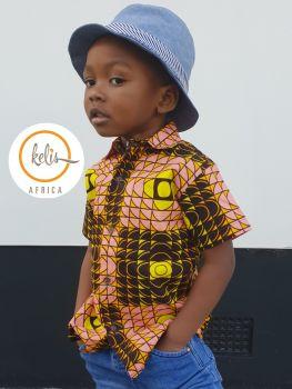 African Print Shirt/ Hills