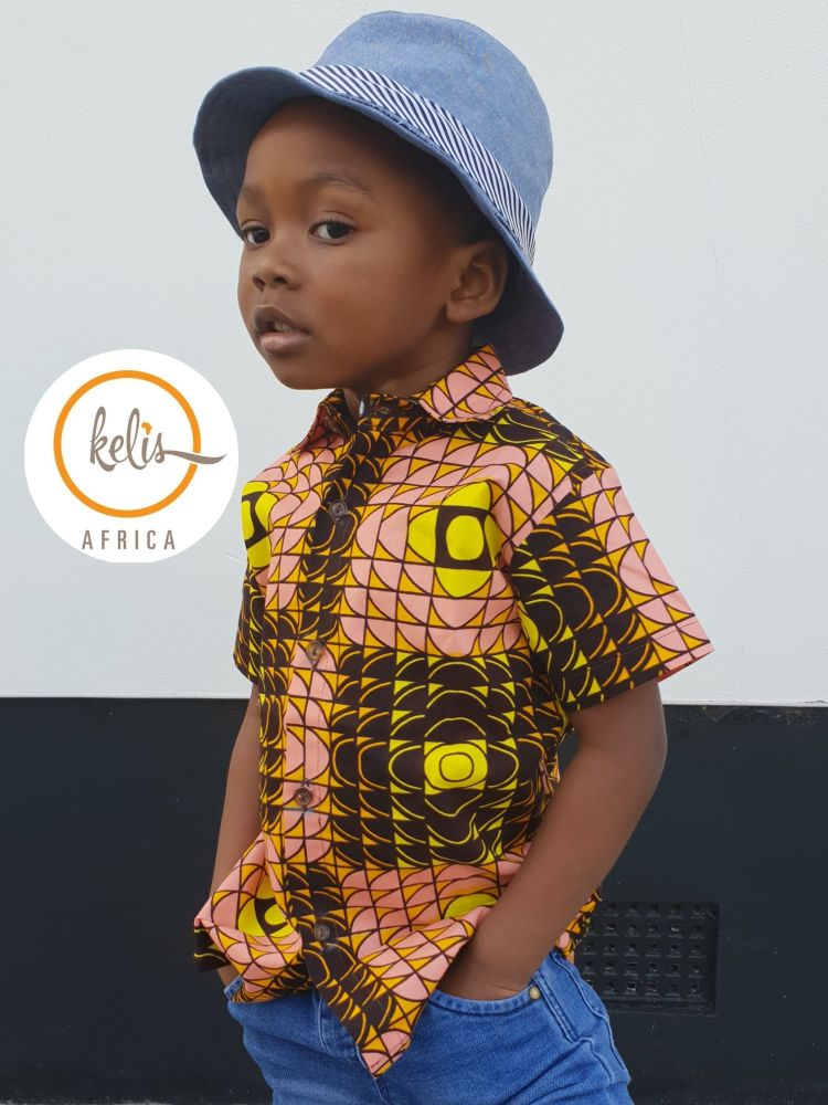 African Print Shirt/ Hello Yellow