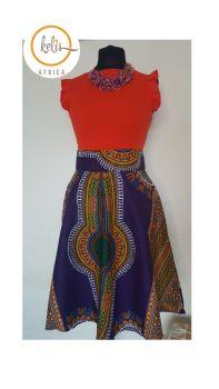 Flare Skirt /Midi Skirt/ Dashiki