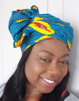 African Print Head Wrap/ Hevi