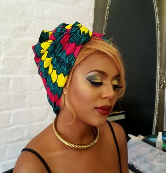African Print Head Wrap/Shells