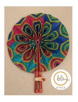 Africa Print Fan/Loko