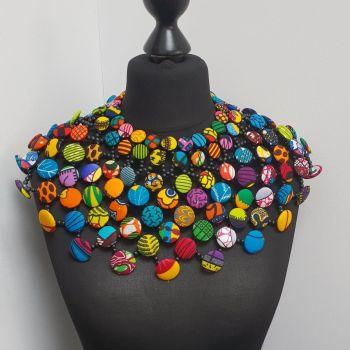 Ankara Button Cape/ Multi Short