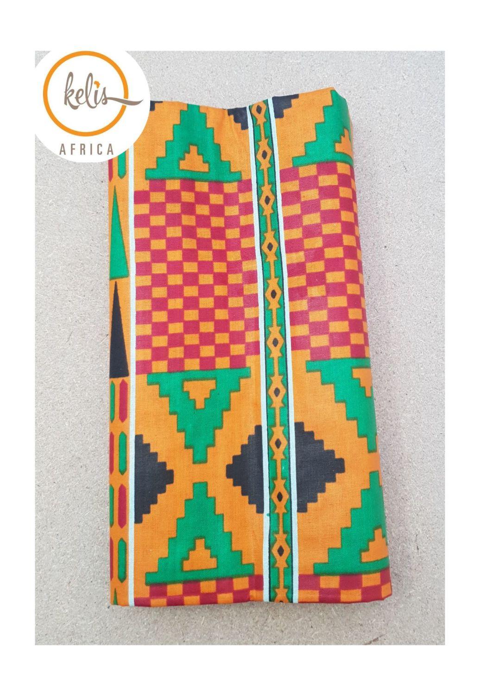 African Print Head Wrap/ Kente Print Cube