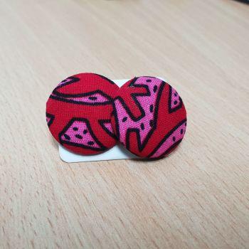 Stud Earrings/ Bibi Pink