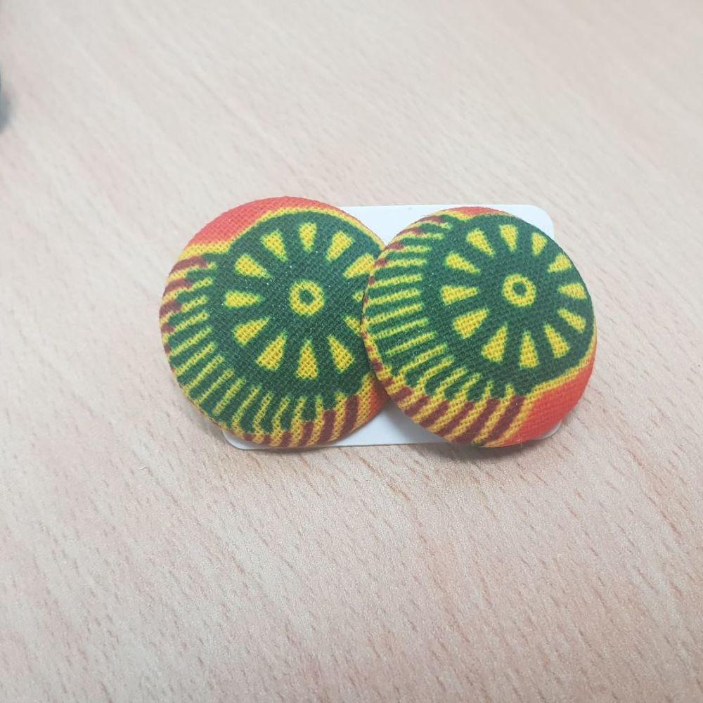 Stud Earrings/ Orange