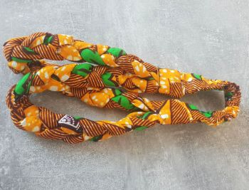 African Print Head bands/  Yellow