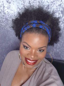 African Print Head bands/  Im blu