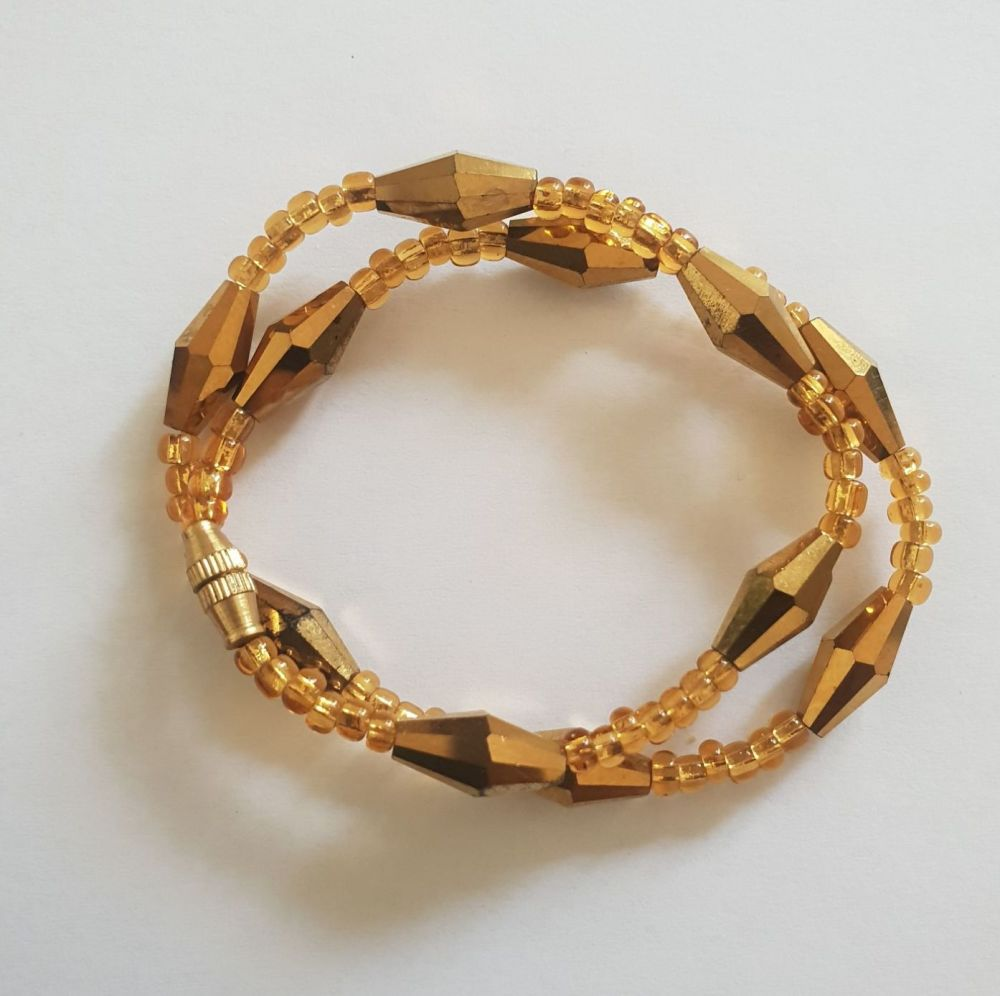 Chunky  Anklet /  Gold Berries