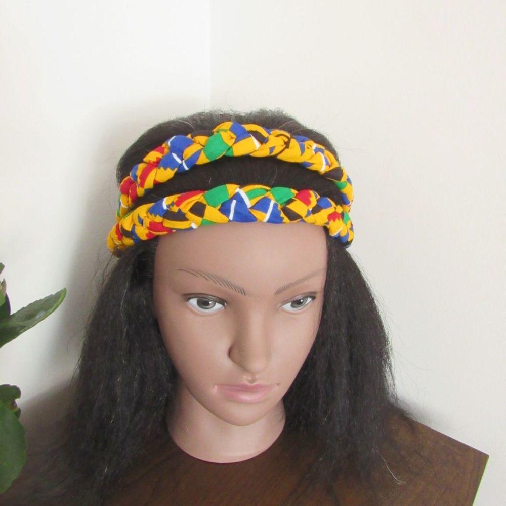 African Print Head bands/  kente