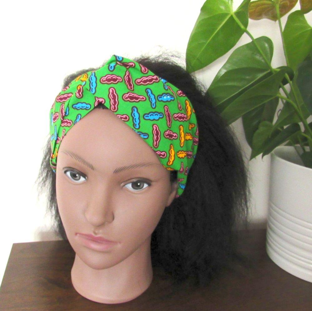 African Print Twisted Head bands/   Gemai