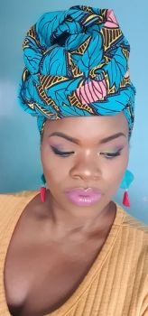 African Print Head Wrap/  Aneti