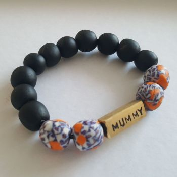 Black Beads Bracelets  / Mummy