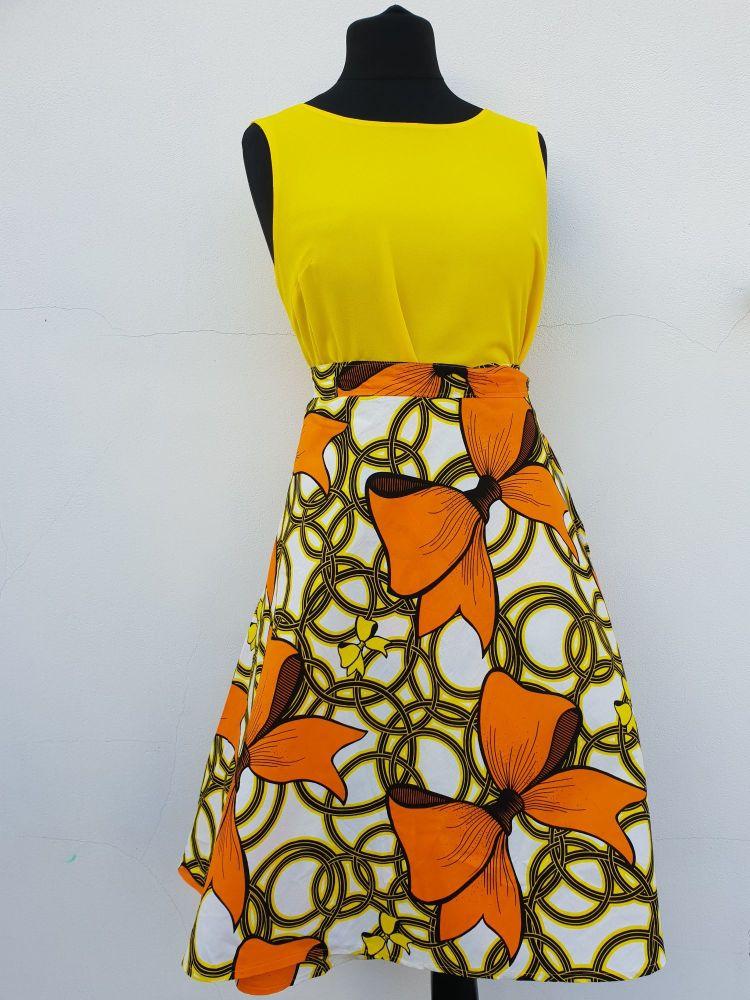 Flare Skirt /Midi Skirt/  Bows