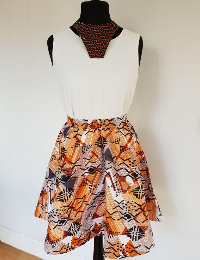 Wrap Skirt /Midi Skirt/ Mud Cloth Print