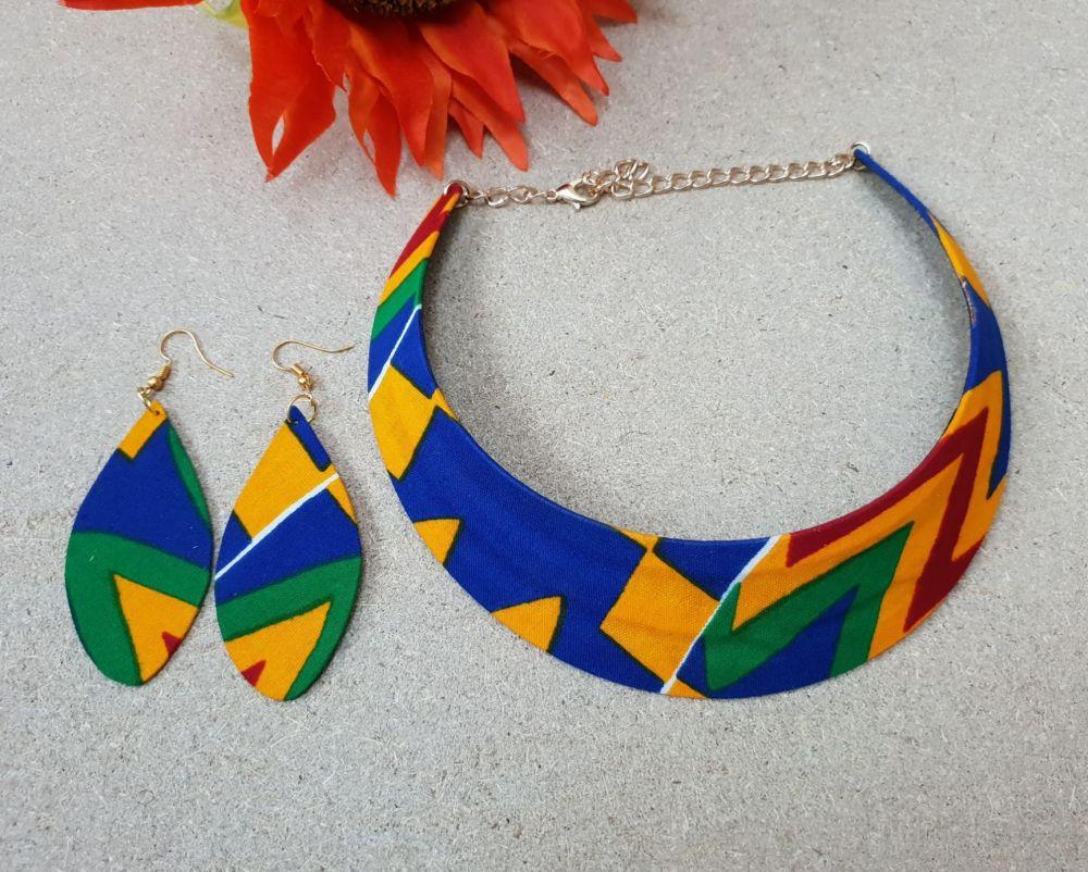 Choker Earring Set / Kente Nly