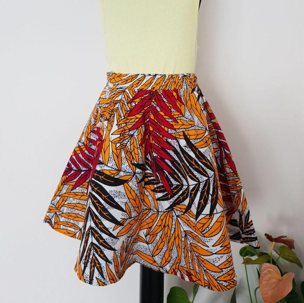 Girls African Print Skirt  / Kingston