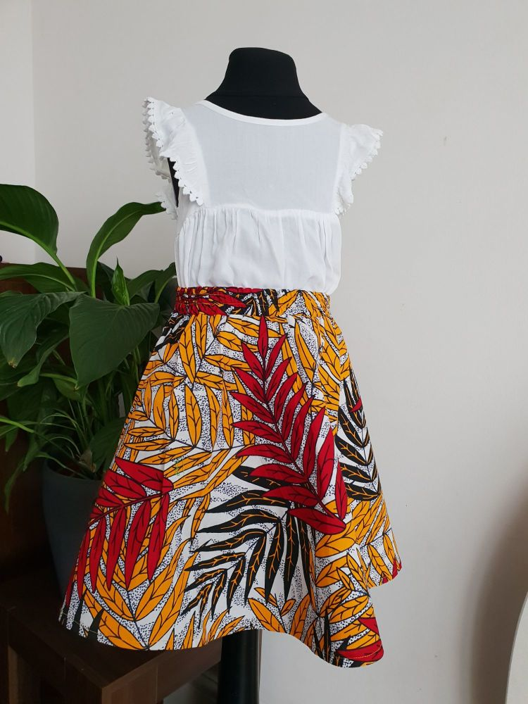 Girls African Print Skirt  / Kingston