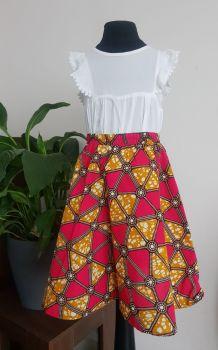 Girls African Print Skirt  / Fali