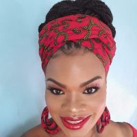 African Print Head Wrap/ Red Roni