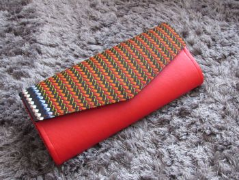 Ketepa Print and Faux Leather Clutch Bag