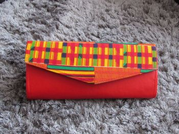 Kente Print Clutch Bag