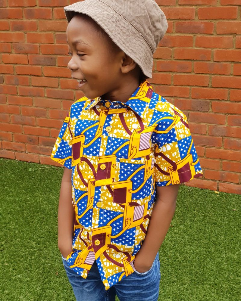 African Print Shirt/ Links