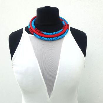 Yaa Yaa  Necklace / Blue