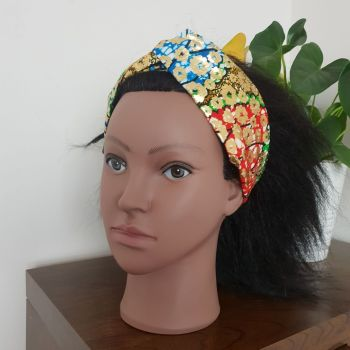 African Print Twisted Head bands/   Gomen