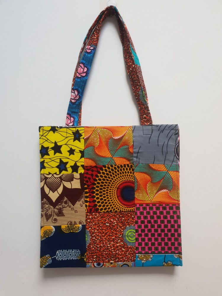 African Print Shopper Bag/ African Print Tote Bag/Sasa Bag
