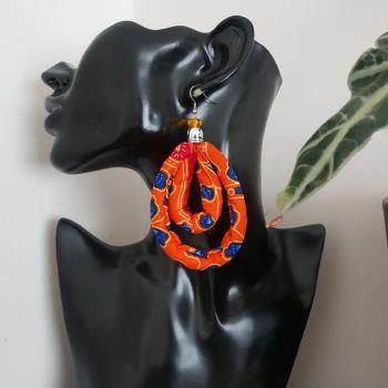 Earrings/  Orange Drops