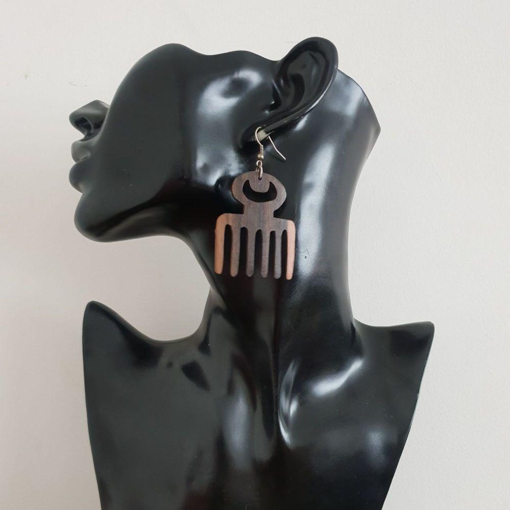 Wooden Earrings/ Duafe